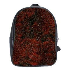 Olive Seamless Abstract Background School Bags (XL)