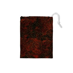 Olive Seamless Abstract Background Drawstring Pouches (Small)