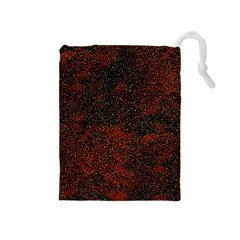 Olive Seamless Abstract Background Drawstring Pouches (Medium)