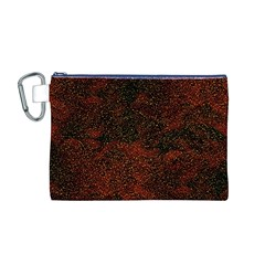 Olive Seamless Abstract Background Canvas Cosmetic Bag (m)