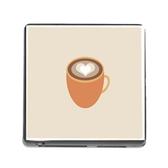 Artin Coffee Chocolate Brown Heart Love Memory Card Reader (Square)