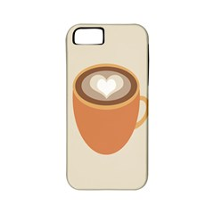 Artin Coffee Chocolate Brown Heart Love Apple iPhone 5 Classic Hardshell Case (PC+Silicone)