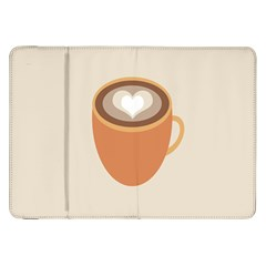 Artin Coffee Chocolate Brown Heart Love Samsung Galaxy Tab 8.9  P7300 Flip Case