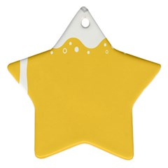 Beer Foam Yellow White Star Ornament (Two Sides)