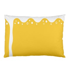 Beer Foam Yellow White Pillow Case