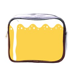 Beer Foam Yellow White Mini Toiletries Bags