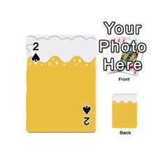 Beer Foam Yellow White Playing Cards 54 (Mini)