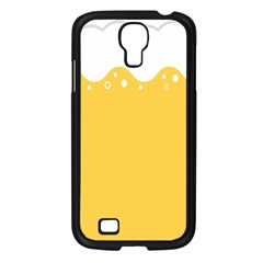 Beer Foam Yellow White Samsung Galaxy S4 I9500/ I9505 Case (Black)