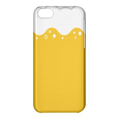 Beer Foam Yellow White Apple iPhone 5C Hardshell Case