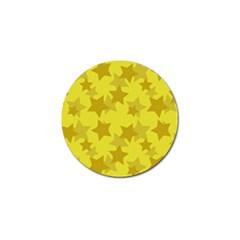 Yellow Star Golf Ball Marker (10 pack)