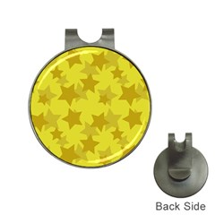 Yellow Star Hat Clips with Golf Markers
