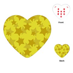Yellow Star Playing Cards (Heart)