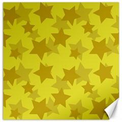 Yellow Star Canvas 16  x 16