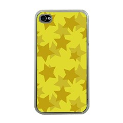 Yellow Star Apple iPhone 4 Case (Clear)