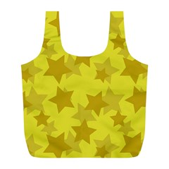 Yellow Star Full Print Recycle Bags (l)