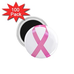 Breast Cancer Ribbon Pink 1.75  Magnets (100 pack)