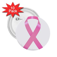 Breast Cancer Ribbon Pink 2.25  Buttons (10 pack)