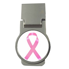 Breast Cancer Ribbon Pink Money Clips (Round)