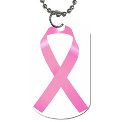 Breast Cancer Ribbon Pink Dog Tag (One Side)