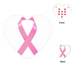 Breast Cancer Ribbon Pink Playing Cards (Heart)