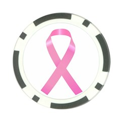 Breast Cancer Ribbon Pink Poker Chip Card Guard (10 pack)