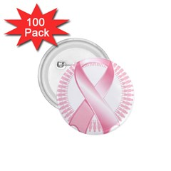 Breast Cancer Ribbon Pink Girl Women 1.75  Buttons (100 pack)