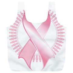 Breast Cancer Ribbon Pink Girl Women Full Print Recycle Bags (l)
