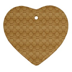 Chess Dark Wood Seamless Ornament (Heart)