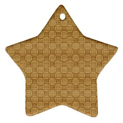 Chess Dark Wood Seamless Star Ornament (Two Sides)