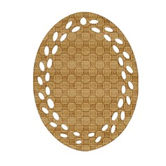 Chess Dark Wood Seamless Oval Filigree Ornament (Two Sides)