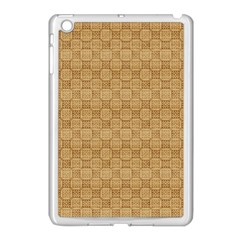 Chess Dark Wood Seamless Apple iPad Mini Case (White)