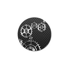 Chain Iron Polka Dot Black Silver Golf Ball Marker