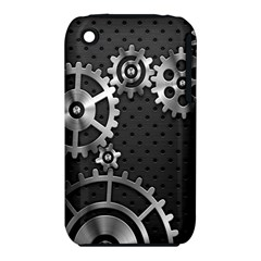 Chain Iron Polka Dot Black Silver iPhone 3S/3GS