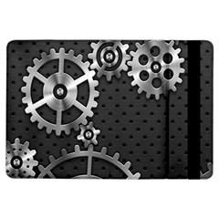 Chain Iron Polka Dot Black Silver iPad Air Flip