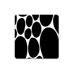 Dalmatian Black Spot Stone Square Magnet