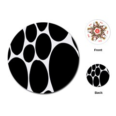 Dalmatian Black Spot Stone Playing Cards (Round)