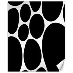 Dalmatian Black Spot Stone Canvas 11  x 14