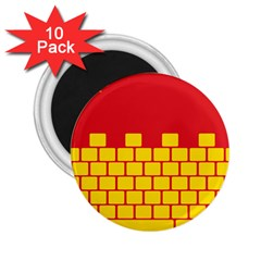 Firewall Bridge Signal Yellow Red 2.25  Magnets (10 pack)