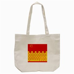 Firewall Bridge Signal Yellow Red Tote Bag (Cream)