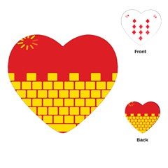 Firewall Bridge Signal Yellow Red Playing Cards (heart)