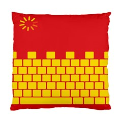 Firewall Bridge Signal Yellow Red Standard Cushion Case (Two Sides)