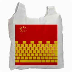 Firewall Bridge Signal Yellow Red Recycle Bag (One Side)