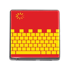 Firewall Bridge Signal Yellow Red Memory Card Reader (Square)