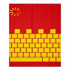 Firewall Bridge Signal Yellow Red Shower Curtain 60  x 72  (Medium)