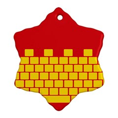 Firewall Bridge Signal Yellow Red Ornament (Snowflake)