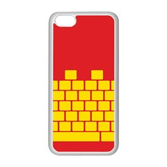 Firewall Bridge Signal Yellow Red Apple Iphone 5c Seamless Case (white)