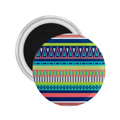 Aztec Triangle Chevron Wave Plaid Circle Color Rainbow 2.25  Magnets