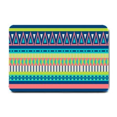 Aztec Triangle Chevron Wave Plaid Circle Color Rainbow Small Doormat