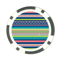 Aztec Triangle Chevron Wave Plaid Circle Color Rainbow Poker Chip Card Guard