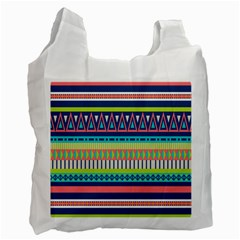 Aztec Triangle Chevron Wave Plaid Circle Color Rainbow Recycle Bag (One Side)